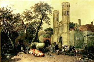 Saint Augustines, Canterbury, 1833 by Thomas Sidney Cooper. (GS)