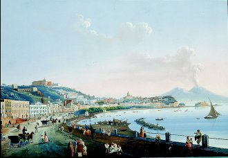 View of Naples by unknown artist of Neopolitan School. (GL)