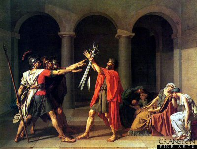 The Oath of the Horatii by Jacques Louis David (GL)