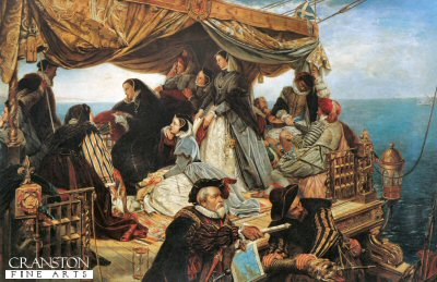 Marie Stuarts Farewell to France by Henry Nelson ONeil.