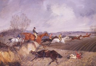 The Fall, The Forest Stakes by Henry Alken. (GS)