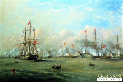 Review of the Fleet at Spithead by H. M Queen Victoria by A W Fowles. (GL)