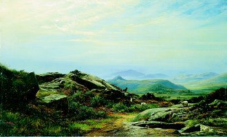 A Mountain Landscape, 1866 by John Faulkner. (GS)
