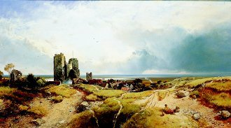 Orford Castle, Suffolk by Henry Bright. (GS)