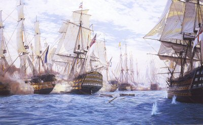 Battle of Trafalgar by Steven Dews.