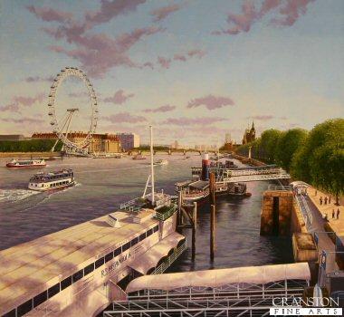 The London Eye from Hungerford Bridge by Graeme Lothian. (GS)