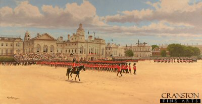 Trooping the Colour (1st Battalion Irish Guards) by Graeme Lothian. (P)