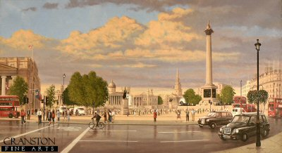 Trafalgar Square - Evening by Graeme Lothian. (P)