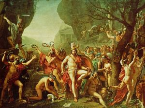 Leonidas at Thermopylae by Jacques Louis David 1748-1825 (GL)