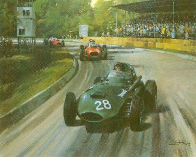 Italian Grand Prix Monza 1958 by Michael Turner.