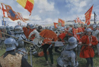The Battle of Bosworth - the Melee - Norfolk versus Oxford by Graham Turner