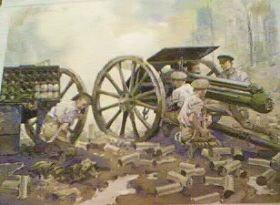 GW9P.  Royal Horse Artillery, World War One by Gordon Wilson.