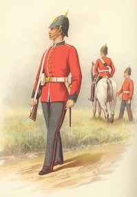 1st Battalion (West Melbourne) Victorian Infantry by H Bunnett (P)