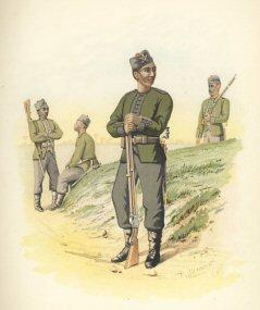 The 3rd Goorkhas by H Bunnett (P)