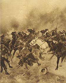 Battle of Marston Moor, 1644 by Henry Dupray. (P)