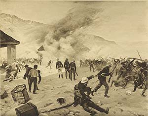 Defence of Rokes Drift, 1879 by Henry Dupray.
