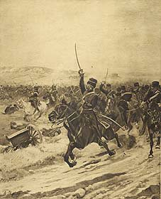 Charge of the Light Brigade (Balaclava), 1854 by Henry Dupray