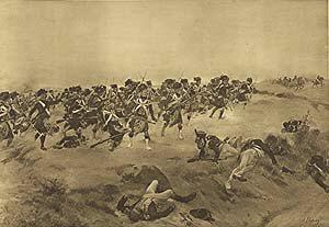 Battle of Quatre Bras, 1815 by Henry Dupray. (P)