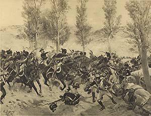 Battle of Vittoria, 1813 by Henry Dupray. (P)