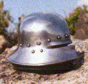 Paperweight: German Tipping Sallet c.1470AD.