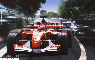 Flying Start, Schumacher and Montoya at Melbourne 2002 by Ivan Berryman (AP)