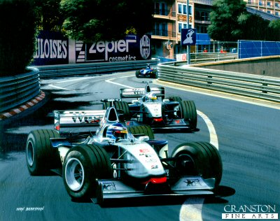 McLaren at Monaco, Hakkinen and Coulthard 1998 by Ivan Berryman.