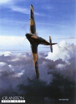 Hurricane of No.501 Sqn by Ivan Berryman. (GS)