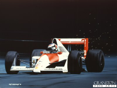 Gerhard Berger, 1990 by Ivan Berryman. (GS)
