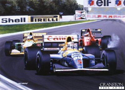 Mansell by Ivan Berryman. (APB)