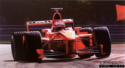 Michael Schumacher - Ferrari F-300 by Ivan Berryman. (GS)