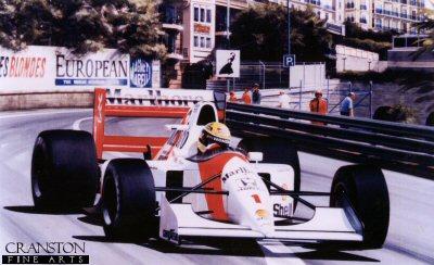 Monaco Master - Ayrton Senna by Ivan Berryman. (GS)