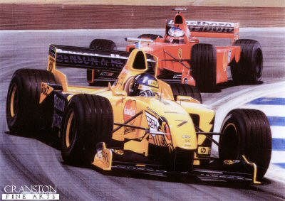 Damon Hill - Jordan by Ivan Berryman.