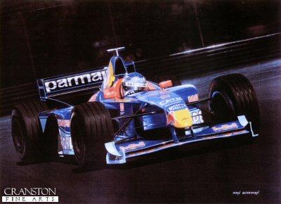 Jean Alesi - Sauber by Ivan Berryman. (GS)