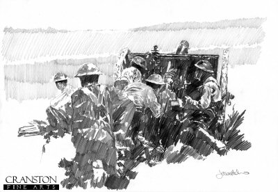 Tribute to the 25pdr Gun Crews by Jason Askew.