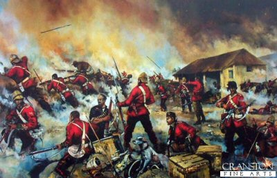 Rorkes Drift 22nd January 1879 - Defending the Store House by Jason Askew. (B)