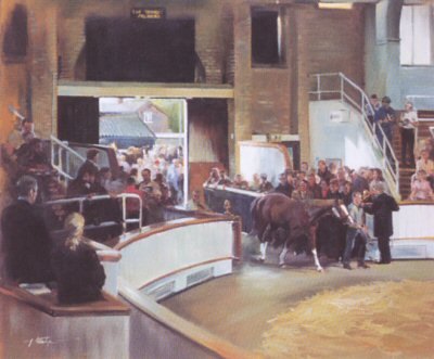Tattersalls Sales, Newmarket (Arena) by Jacqueline Stanhope.