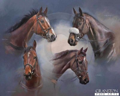 Legends - Kauto Star, Big Buck's, Denman and Masterminded by Jacqueline Stanhope.