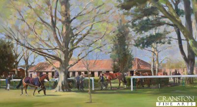Rowley Mile, Pre-Parade Ring, Newmarket by Jacqueline Stanhope.