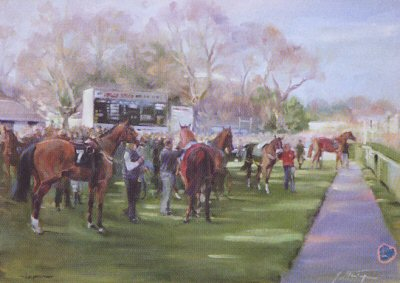 Leopardstown (Parade Ring) by Jacqueline Stanhope.