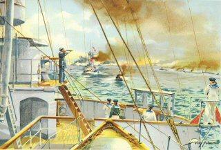 Auf der Kommandobrucke eines Linienschiffes by W Stower.