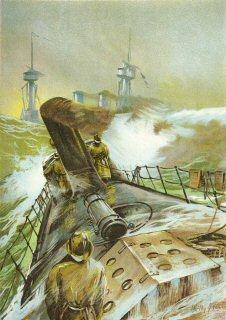 An Deck eines Torpedobootes.