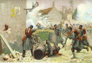 Die Wurttemberger bei Champigny. 2nd Dezember 1870 by Richard Knotel