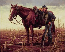 The Vedette, 3rd N.J. Cavalry, Shenandoah Valley by Keith Rocco.