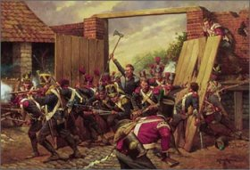 The Great Gate of Hougoumont by Keith Rocco.
