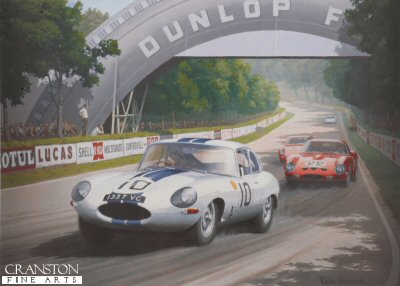 E-Type at Tertre Rouge by Keith Woodcock.