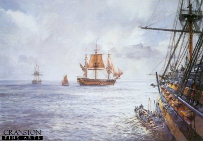 HMS Duke William - Coming Aboard a 98-Gun Ship at the Nore, 1793 by Geoff Hunt.