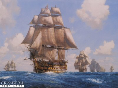Victory on the Atlantic Chase by Geoff Hunt.