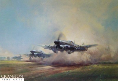 Hawker Typhoon Squadron by Frank Wootton.