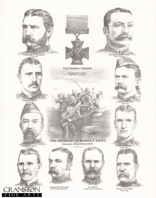Victoria Cross Winners at the Defence of Rorkes Drift, January 22nd - 23rd 1879 by Stuart Liptrot