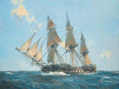 USS United States by Geoff Hunt.